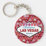 Llavero de los corazones de Las Vegas