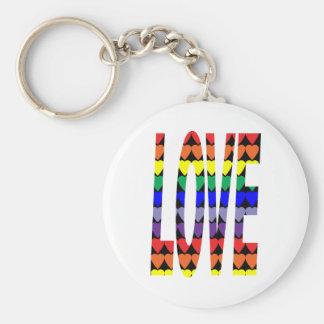 Llavero de los corazones del arco iris del amor