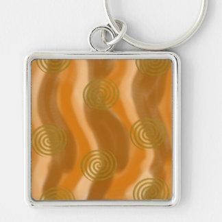 Llavero de los espirales de la onda del otoño