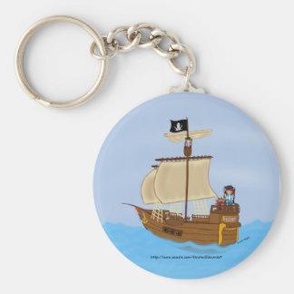 Llavero de los faeries del barco pirata y del pira