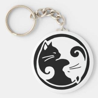 Llavero de los gatos de Yin Yang
