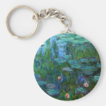 Llavero de los lirios de agua de Monet Nympheas