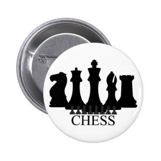 Llavero de los pedazos de ajedrez pin redondo 5 cm