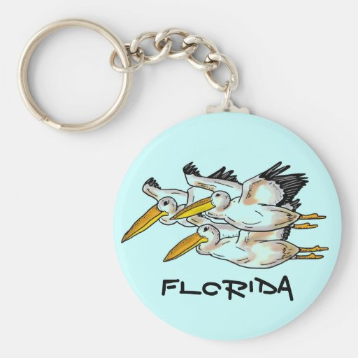 Llavero de los pelícanos de la Florida