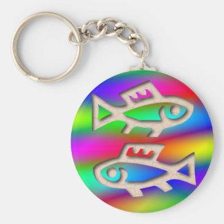 Llavero de los pescados de arco iris de Mulitcolor