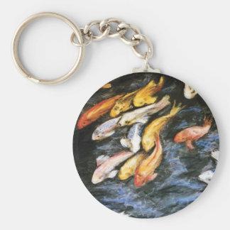 Llavero de los pescados de Koi de la natación