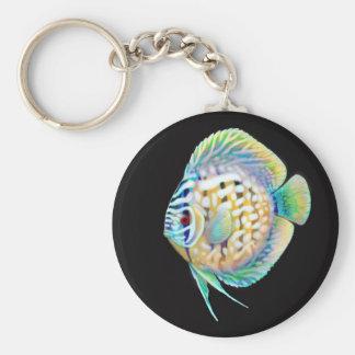 Llavero de los pescados del acuario del Cichlid de