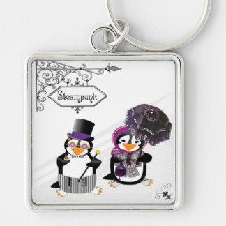 Llavero de los pingüinos de Steampunk