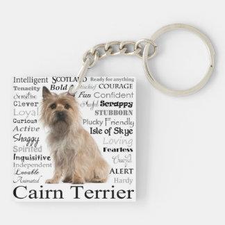 Llavero de los rasgos de Terrier de mojón
