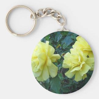 Llavero de los rosas amarillos