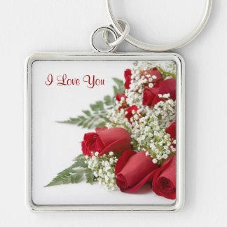 Llavero de los rosas de la tarjeta del día de San