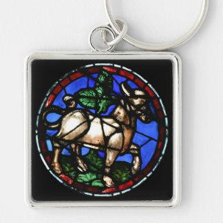 Llavero de los vitrales de la astrología del tauro