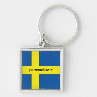 Llavero de lujo de la bandera sueca de Suecia