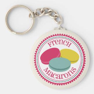 Llavero de Macarons de tres franceses