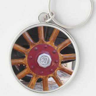 Llavero de madera auto de la rueda del rayo del vi