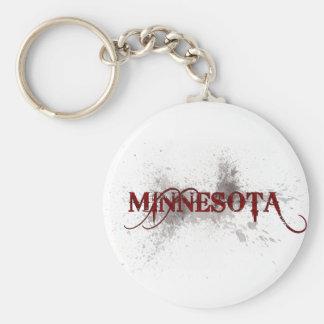 Llavero de Minnesota del Grunge de la sangría