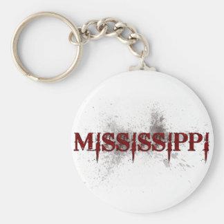 Llavero de Mississippi del Grunge de la sangría
