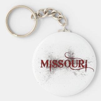 Llavero de Missouri del Grunge de la sangría
