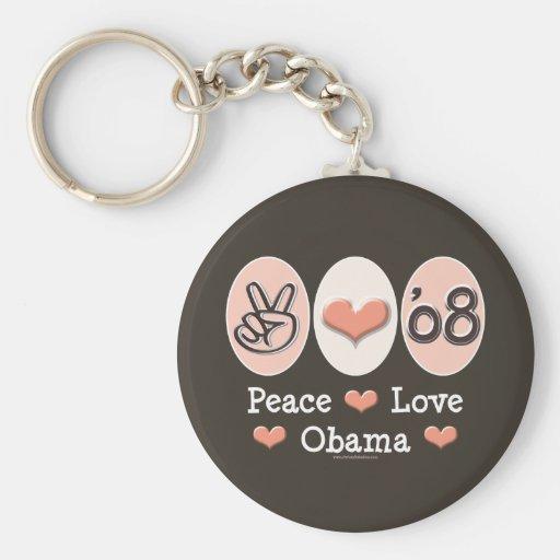 Llavero de Obama 08 del amor de la paz