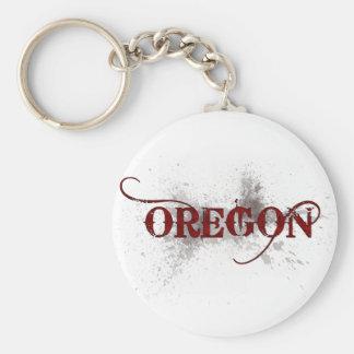 Llavero de Oregon del Grunge de la sangría