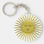 Llavero de oro del símbolo de Sun