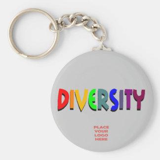 Llavero de plata de encargo de la diversidad