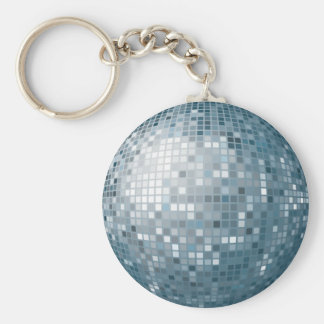 Llavero de plata de la bola de discoteca