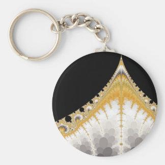 Llavero de plata del volcán del oro