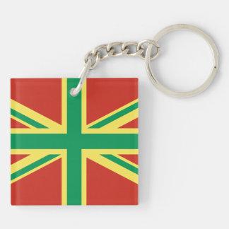 Llavero de Reino Unido de la bandera de Rasta