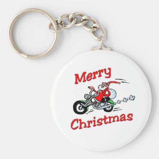 Llavero de Santa de la motocicleta
