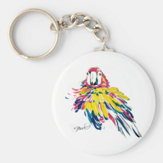 Llavero de seda de la pintura del loro del Macaw d