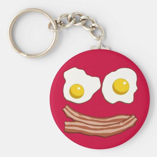 Llavero de tocino y de los huevos