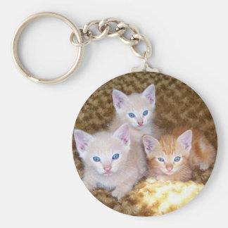 Llavero de tres pequeño gatitos