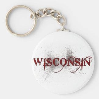 Llavero de Wisconsin del Grunge de la sangría