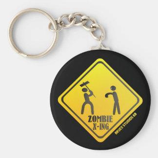 ¡Llavero de X-Ing del zombi!!!! Llavero Redondo Tipo Pin