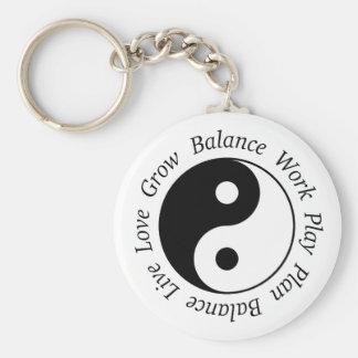 Llavero de Yin Yang de la balanza