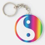 Llavero de Yin Yang del arco iris
