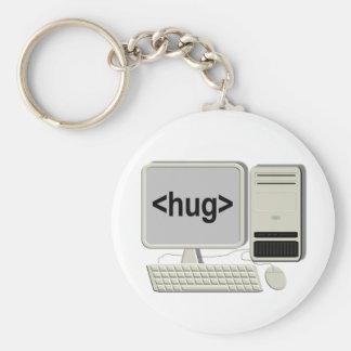 Llavero del abrazo del ordenador