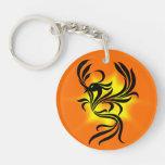 Llavero del acrílico de Phoenix del resplandor sol