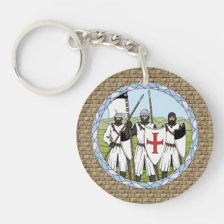 Llavero del acrílico de Templar de los caballeros