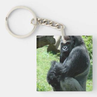 Llavero del acrílico del resplandor del gorila