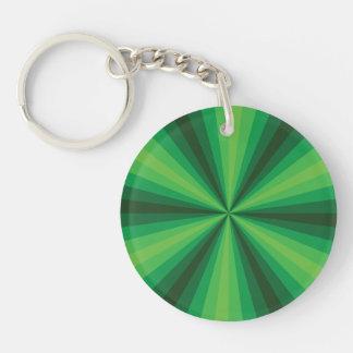 Llavero del acrílico del verde de la ilusión
