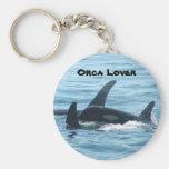 Llavero del amante de la orca