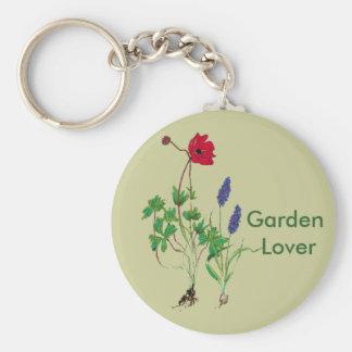 Llavero del amante del jardín