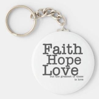 Llavero del amor de la esperanza de la fe