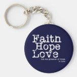 Llavero del amor de la esperanza de la fe del vint