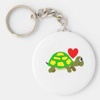 Llavero del amor de la tortuga
