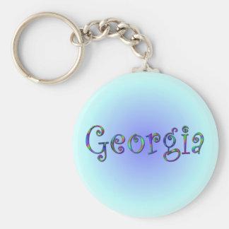 Llavero del arco iris de Georgia