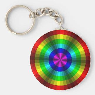 Llavero del arco iris de la ilusión óptica