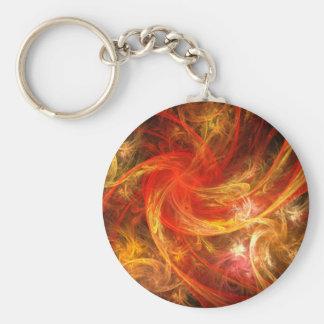 Llavero del arte abstracto de la tormenta de fuego